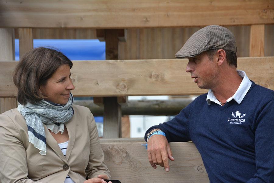 Foto: Andrea von Kerssenbrock im Gespräch mit
