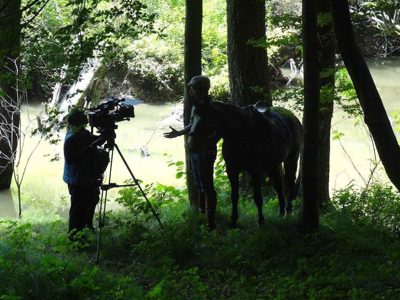 Filmdreh mit Pferd
